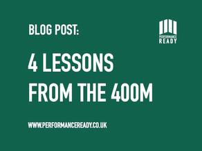 4 Lessons from the 400m