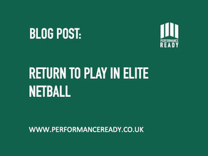 Return to Play in Elite Netball