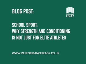 School sport: why strength and conditioning is not just for elite athletes