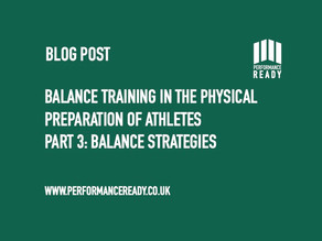 Balance training in the physical preparation of athletes. Part 3.