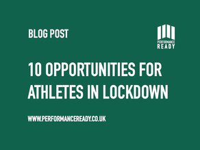 10 Opportunities for Athletes in Lockdown