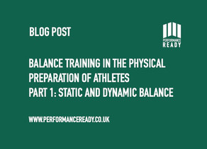 Balance training in the physical preparation of athletes. Part 1.