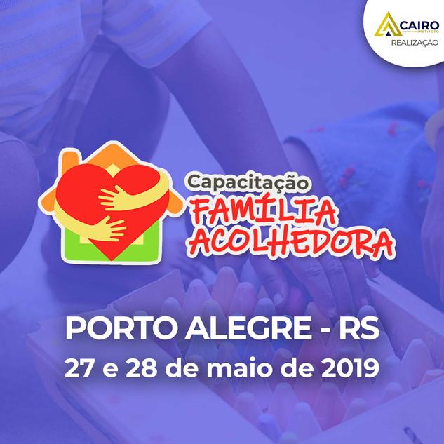 Capacitação sobre a Família Acolhedora - Porto Alegre