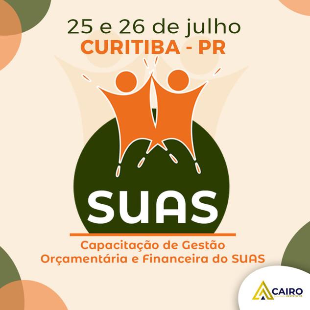 Capacitação sobre Gestão Orçamentária e Financeira do SUAS - Curitiba