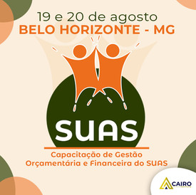 Capacitação sobre Gestão Orçamentária e Financeira do SUAS - Belo Horizonte