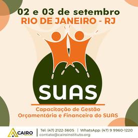 Capacitação sobre Gestão Orçamentária e Financeira do SUAS - Rio de Janeiro