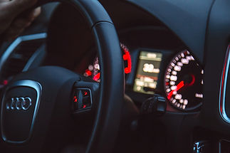 Car Interior with Lights