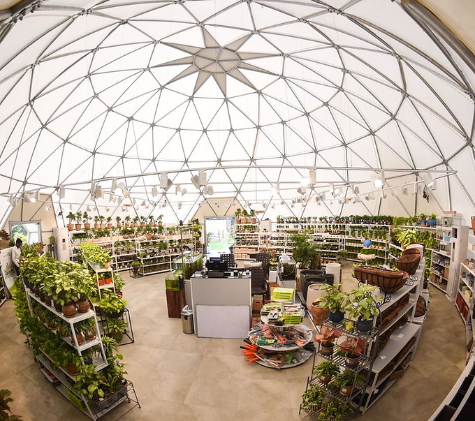 Geodesic Dome for Plantation