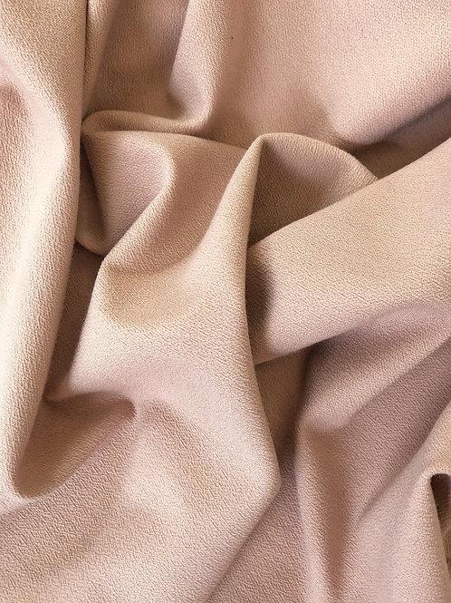 Джерси фактурное кремово-розовое (Италия 0501105)
