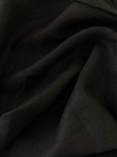 Лен черный (костюмный)