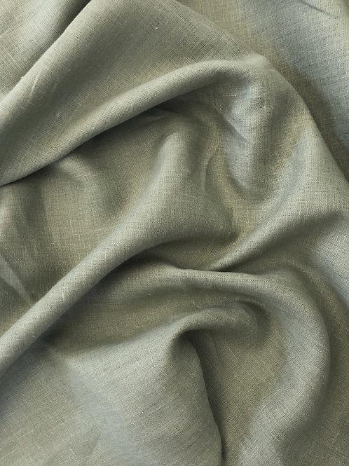 Лен оливковый (костюмный)