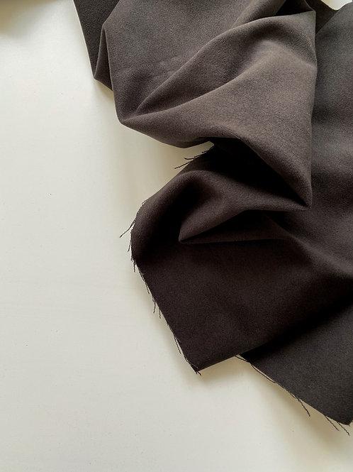 Велюровый плотный хлопок горький шоколад (290)
