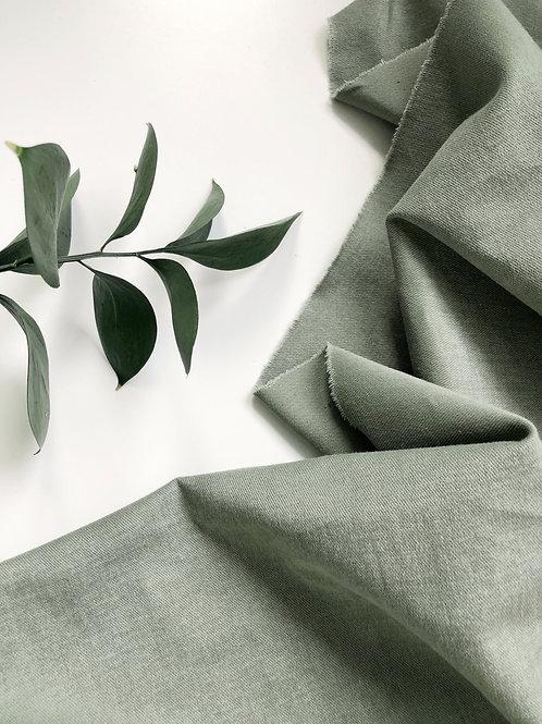 Деним велюровый оливка (280)
