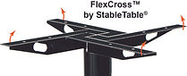 StableTableFlexCros is our wow top cross that manaes micromovements on wood and compiste tops ans ensre that the screws are pulled out.