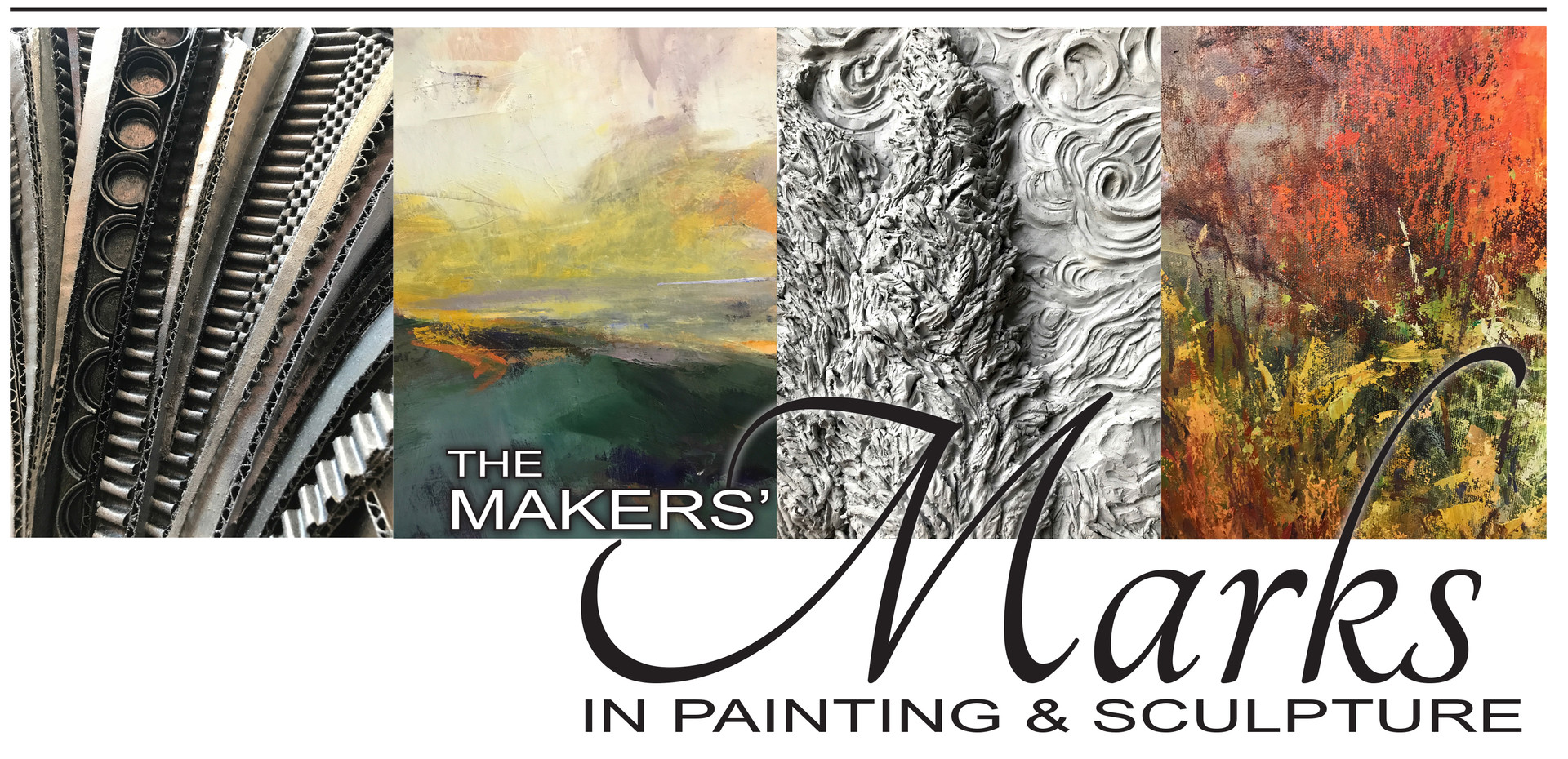 The Makers' Marks in Painting & Sculpture   The Barn in Mariemont August 15 - September 4, 2018 featuring the work of Jan and Mark Wiesner, Gina Stevenson and Eileen McConkey