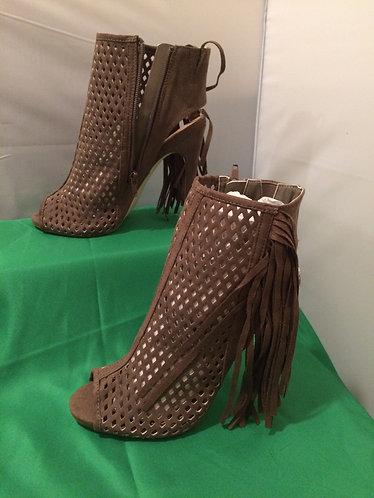Peep-Toe Diamond Cute Boot