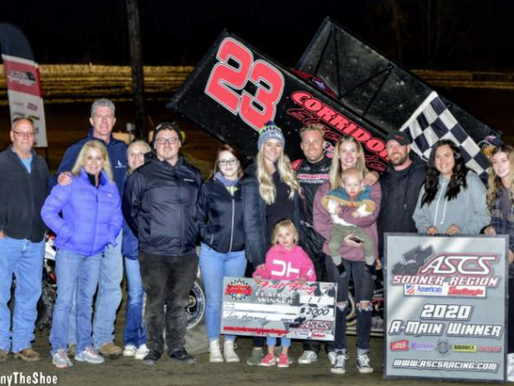 Bergman Holds On For ASCS Sooner Triumph At Creek County Speedway