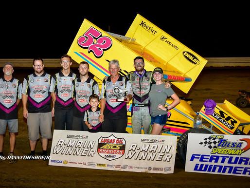 Blake Hahn Charges To ASCS Sprint Week Victory At Tulsa Speedway