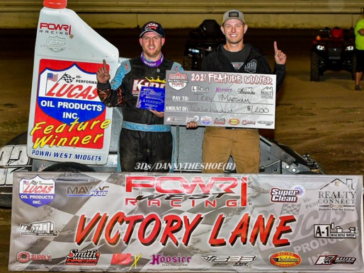 Marcham makes late race pass to win at Tulsa Speedway