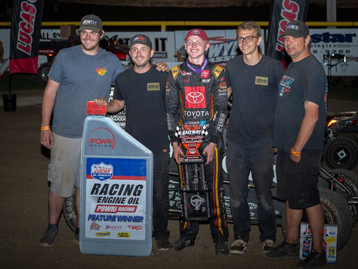 Cannon McIntosh Notches First POWRi Lucas Oil National Midget League Victory