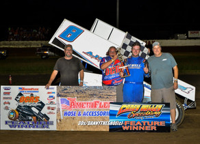 Sewell runs flawless race to win AmeriFlex / OCRS feature at Caney Valley Speedway
