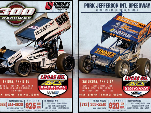 Lucas Oil American Sprint Car Series Back On Track In Iowa And South Dakota