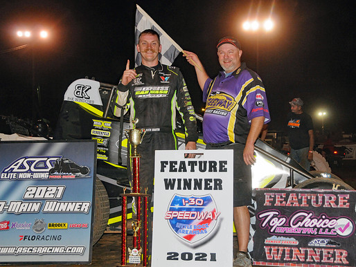 Keith Martin Masters Inaugural Wingless STN Finale at I-30 Speedway!