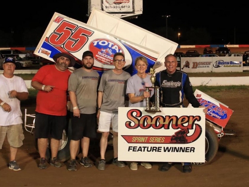 Wood captures first Sooner Sprint victory at Enid