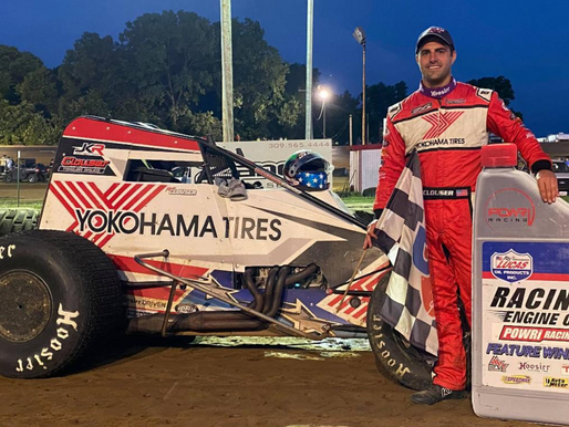 Clouser Sweeps POWRi WAR Weekend with Feature Win at Spoon River Speedway