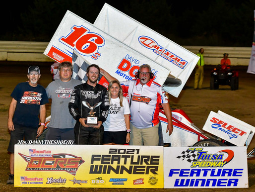 Shebester adapts quickly, wins OCRS feature at Tulsa Speedway