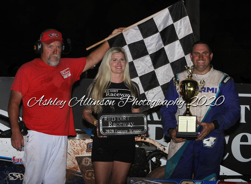 7-31-2020 Red Dirt Raceway action by Mike Howard and Ashley Allinson