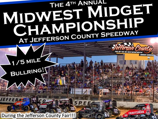 Jefferson County Speedway Gearing Up for Fourth Annual Midwest Midget Championship on July 15-17
