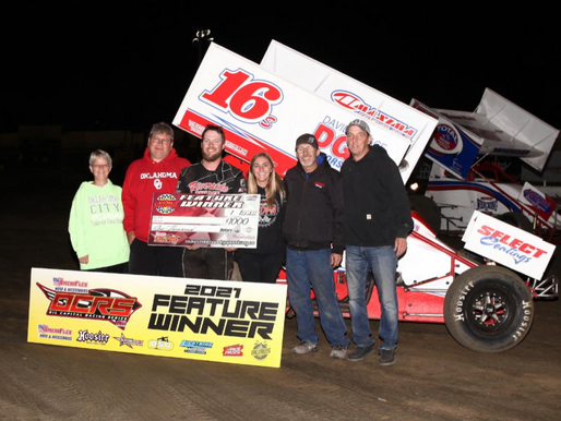 Shebester spoils Harris's bid for a 2ndOCRS win at Creek County Speedway