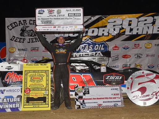PAPICH CASHES IN FOR $10,555-- SCORES FIRST MLRA WIN IN SLOCUM 50