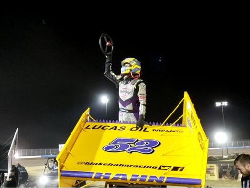 Hahn Prevails in ASCS Sooner Competition While O'Neil and Elliott Thrill The Modifieds