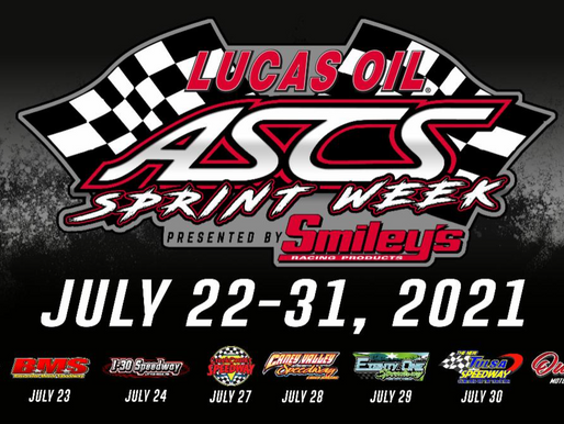 ASCS Sprint Week Daily Breakdown Of Times, Prices, And Classes