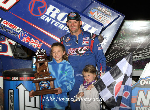 Pittman Scores Emotional Victory with the World of Outlaws at Lawton Speedway