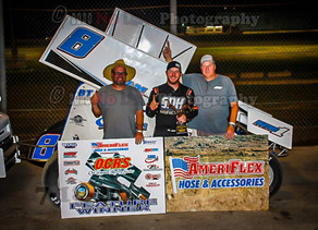 Sewell turns back Sellers for second AmeriFlex / OCRS victory at Salina Highbanks Speedway