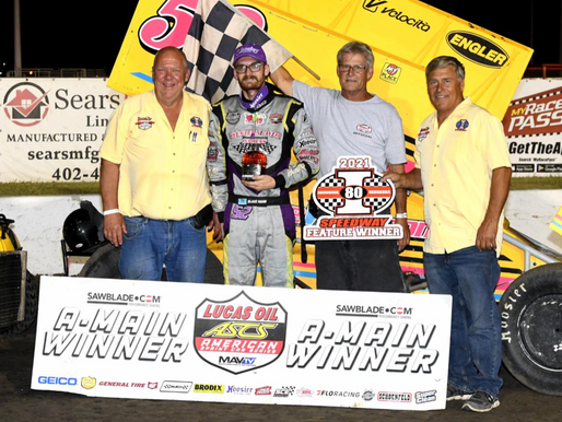 Blake Hahn Wins The Casey's Midwest Fall Brawl At I-80 Speedway