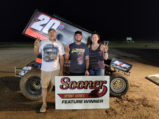 Barksdale wins at Monarch, becomes first repeat Sooner Sprint winner