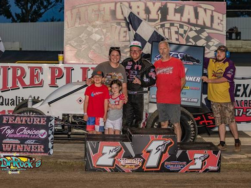 Chase Brewer Earns First ASCS Elite Non-Wing Win At Kennedale Speedway Park