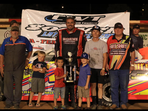 Hughes catches competitors asleep, picks up 7th Sooner Late Model victory