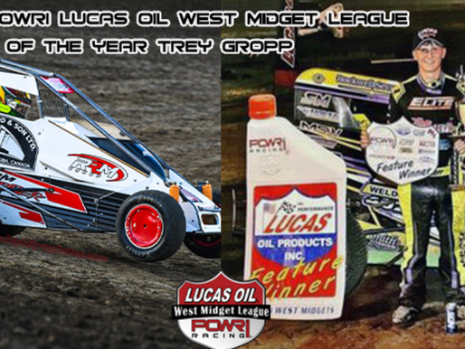 Gropp Crowned POWRi Lucas Oil National and West Midget League Rookie of the Year Honors