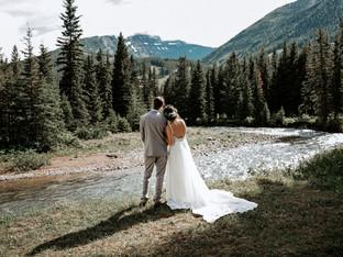 Castle Mountain Wedding - Kim & Brook - Calgary Wedding Photographer
