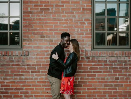 Urban Engagement - Sonia & Halim - Calgary Wedding Photographer