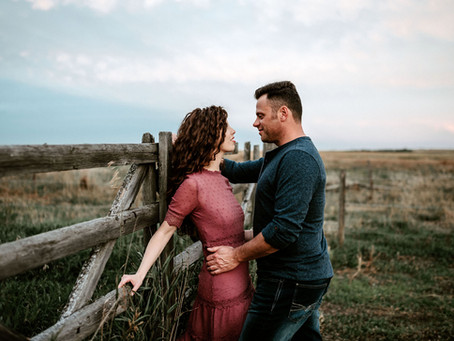 Private Farm Engagement - Rayanne & Warren - Calgary Wedding Photographer