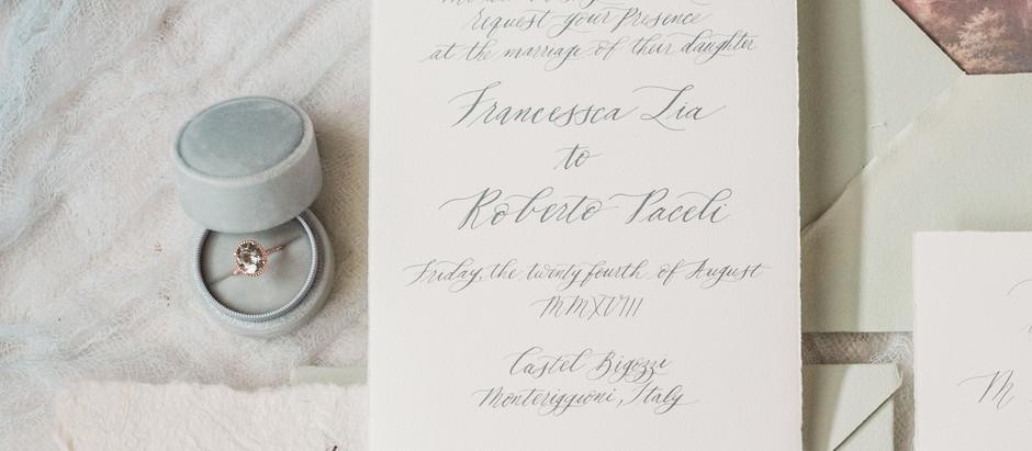 Tips on creating beautiful wedding flat lays!