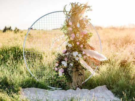 "Featured - ""Boho with a modern twist"" bridal inspiration - Bloom Screens"