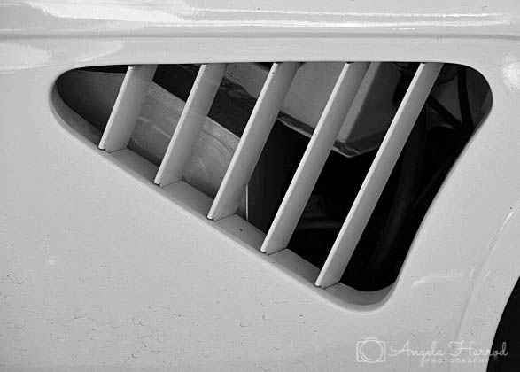 white grille