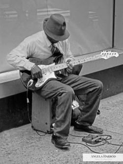 guitarist bw